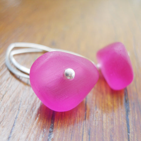 Pink (Translucent) Ice Chip Resin Earrings