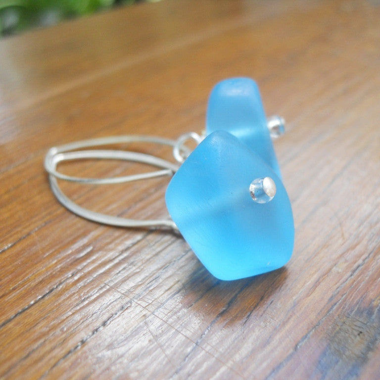 Blue (Translucent) Ice Chip Resin Earrings