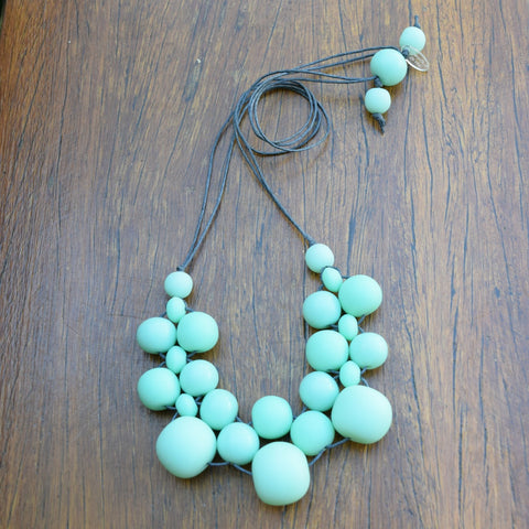 Mint Green Bubble Ball Necklace