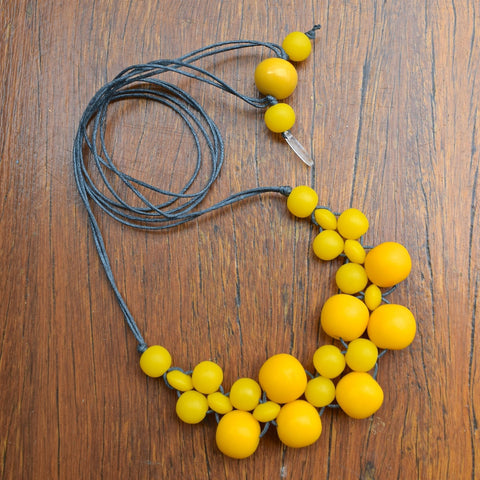 Yellow Mini Bubble Ball Necklace
