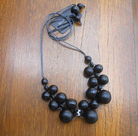 Black Bubble Ball Necklace