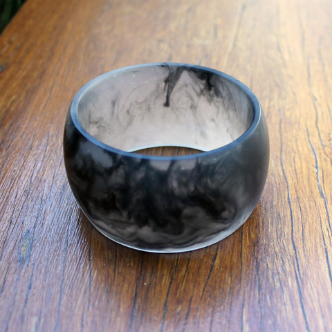 Black Dome Resin Bangle