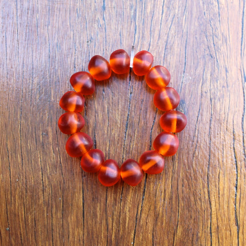 Orange Jelly Nugget Bracelet
