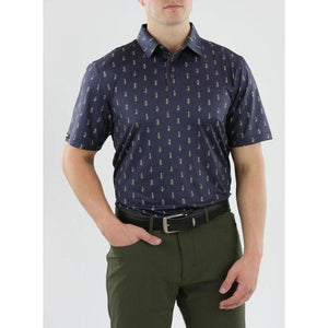 Straight Down Men's Hula Polo front