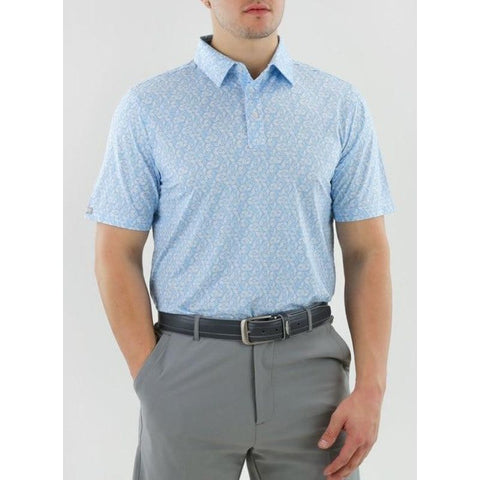 Straight Down Men's Cabot Polo Front