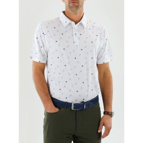 Straight Down Men's Shirt Makapolo white front