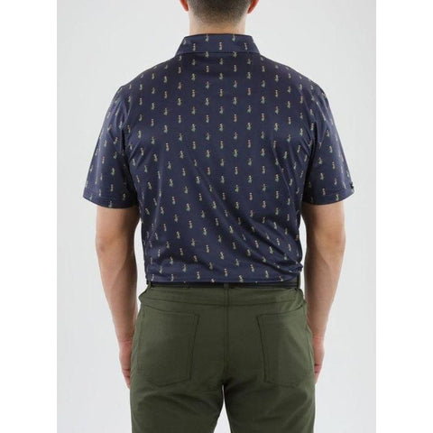 Image of Straight Down Men's Hula Polo Back