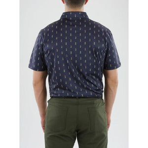 Straight Down Men's Hula Polo Back