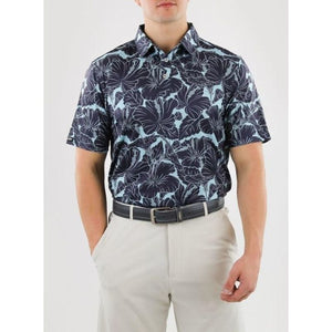 Straight Down Men's Kapalua Polo black front