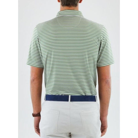 Straight Down Men's Bedford Stripe Polo Back