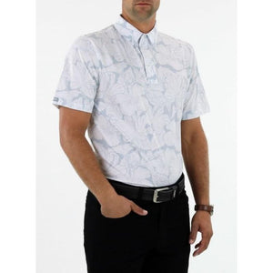 Straight Down Men's Kapalua Polo white front