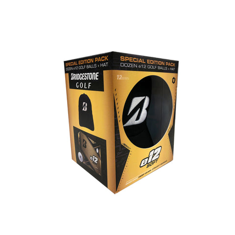 Bridgestone E12 Soft Golf Balls + Hat Combo Pack