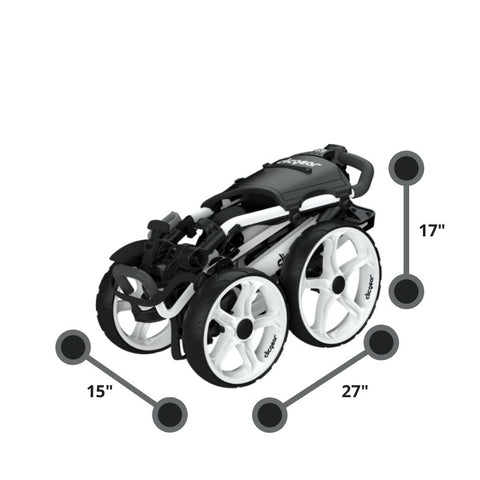 Clicgear 8.0 golf push cart White Compact Dimensions