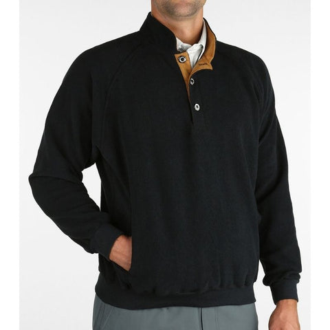 Straight Down Foothill Fleece Pullover Black