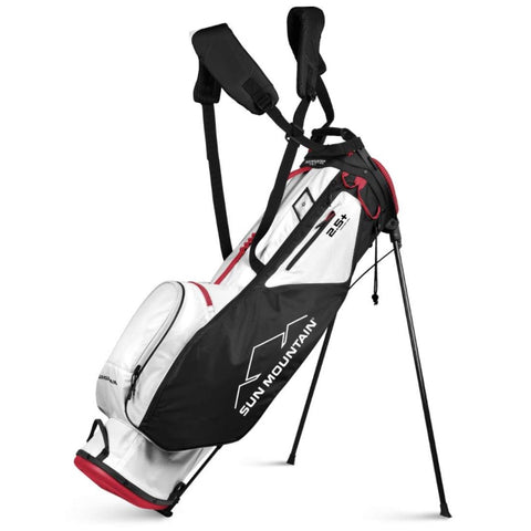 Image of Sun Mountain 2.5+ 14-Way Stand Bag White Black Red