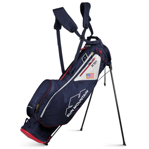 Sun Mountain 2.5+ 14-Way Stand Bag Navy White Red