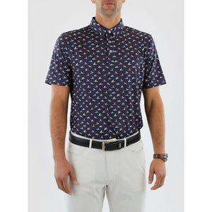 Straight Down Men's Sup Dog Golf Polo