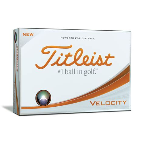 2018 Titleist Velocty Golf Balls Dozen Package