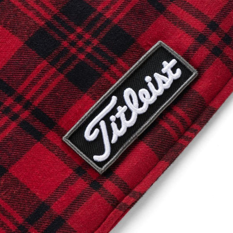 Titleist Buffalo Plaid Black Red White Scarf