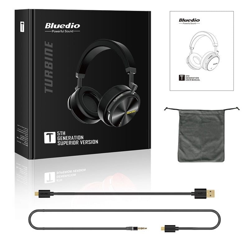 Bluedio T5 HiFi Active Noise Cancelling Wireless headphones with microphone