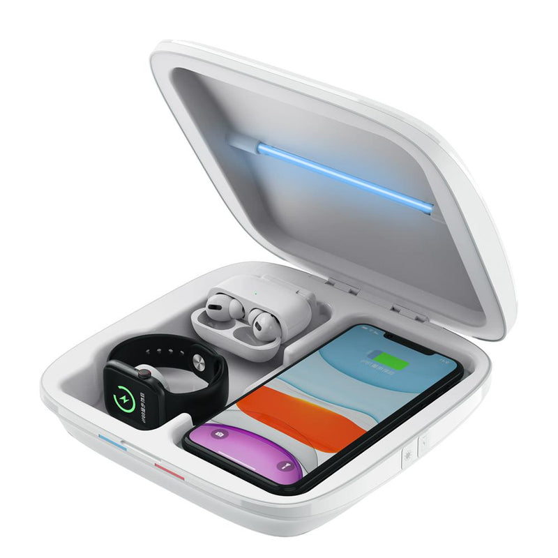 Multifunctional 4in1 Wireless Charger UV Box Sterlizer