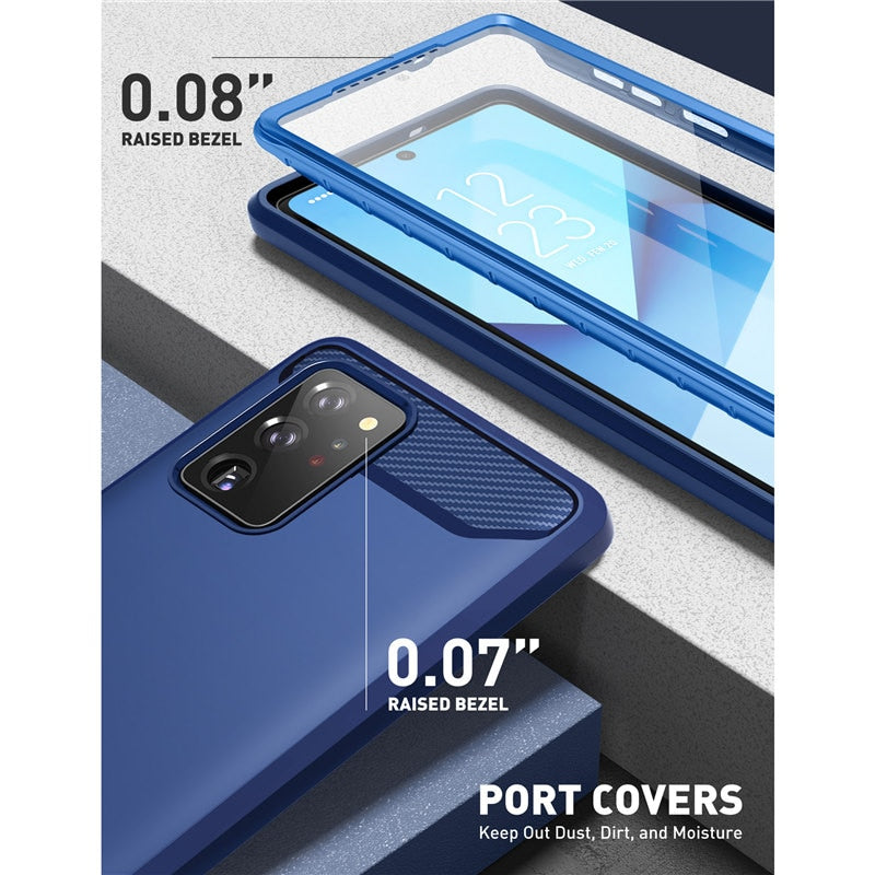 Full-Body Rugged Case Cover with Built-in 3D Curved Screen Protector