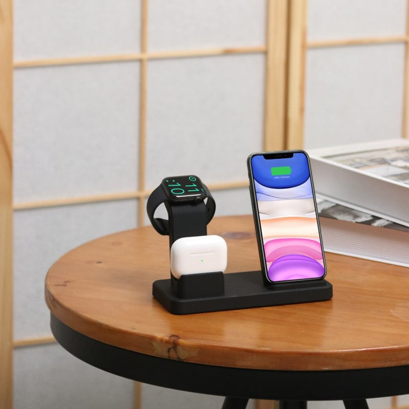15W QI Wireless Charger Station Desk Stand