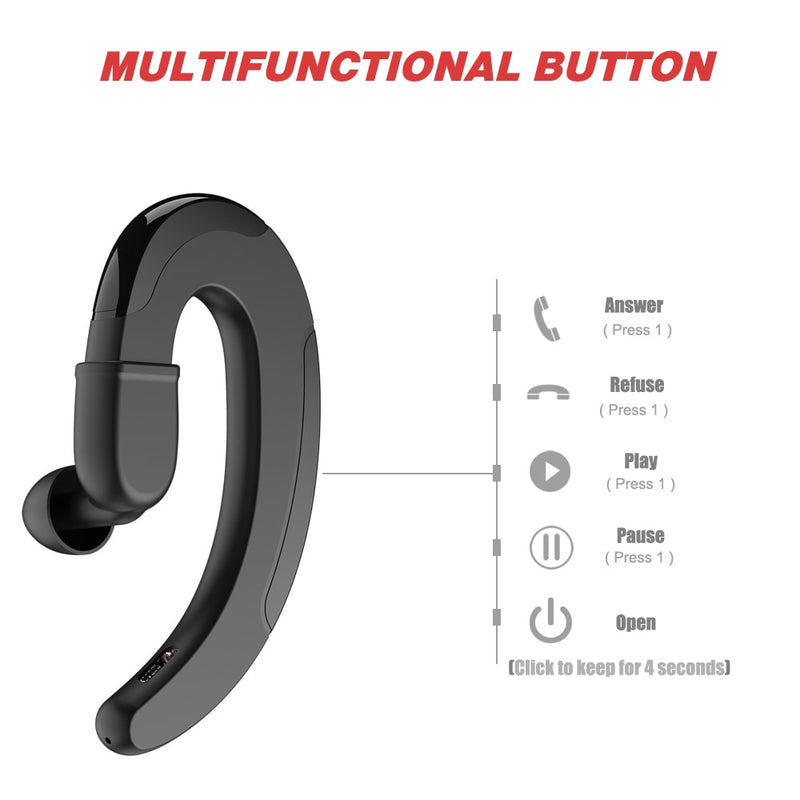 Sports Headset Bone Conduction Earphones Multi functional Button