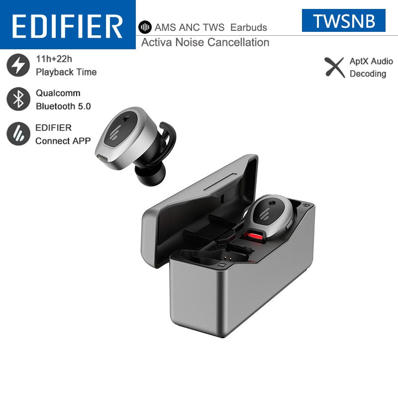 EDIFIER TWSNB TWS Wireless Earphone Advanced ANC Technology aptX Earbuds Qualcomm