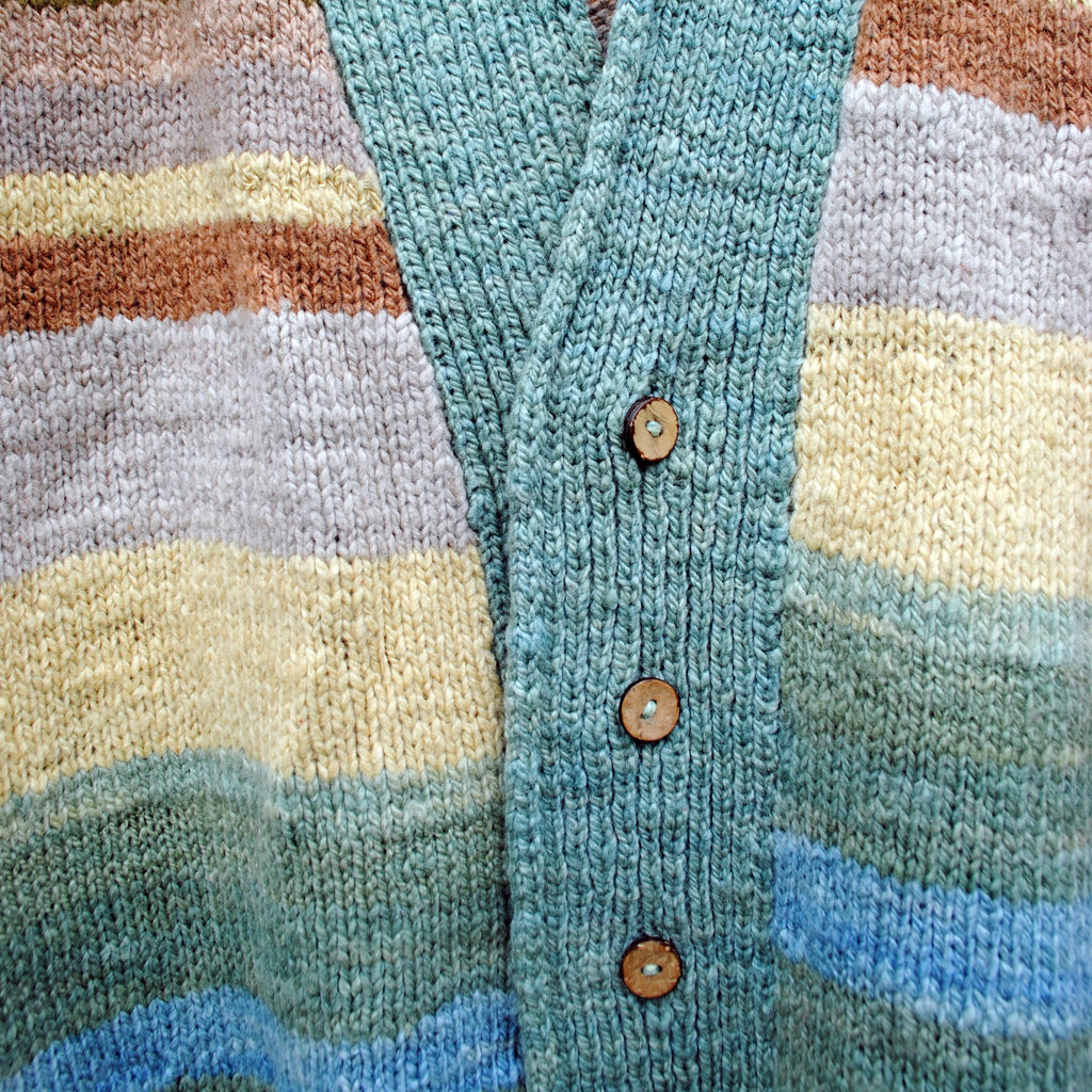 Teal Striped Cardigan