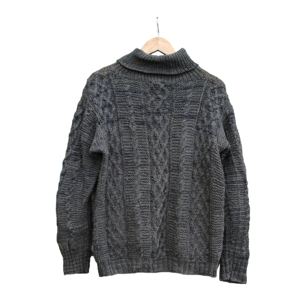 Charcoal Cable Pullover