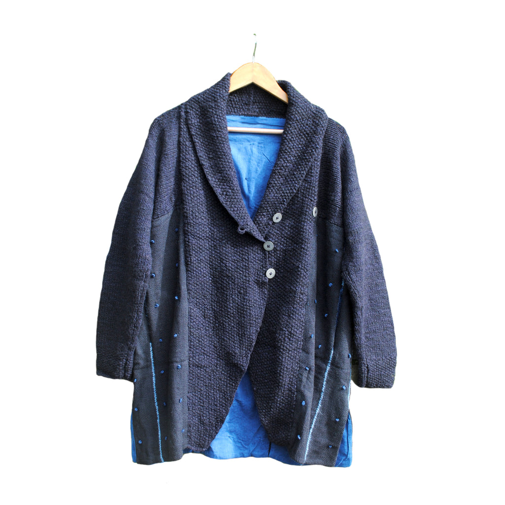 Grey and Indigo Overcoat