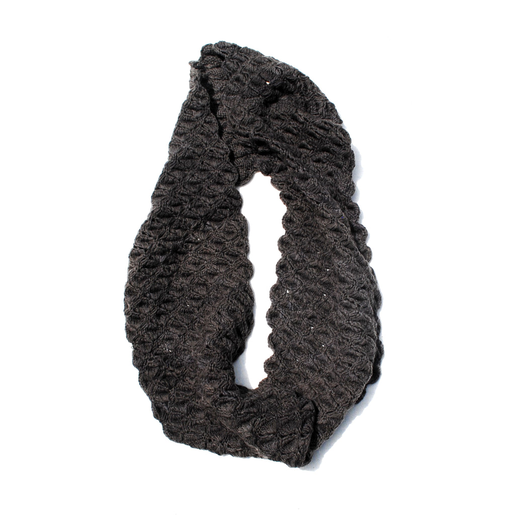 Charcoal Scalloped Cowl