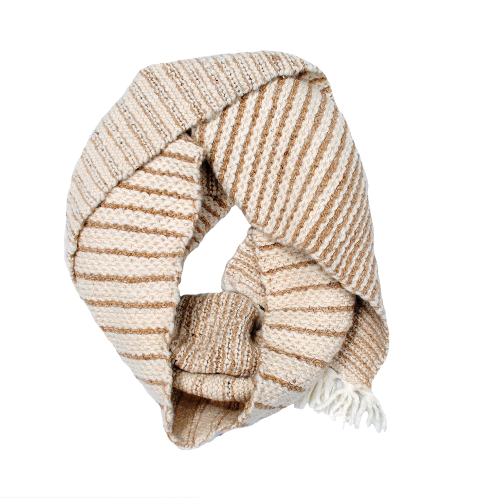 Wool and Nettle Striped Muffler