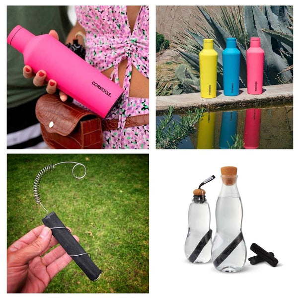 Reusable water bottles and filters
