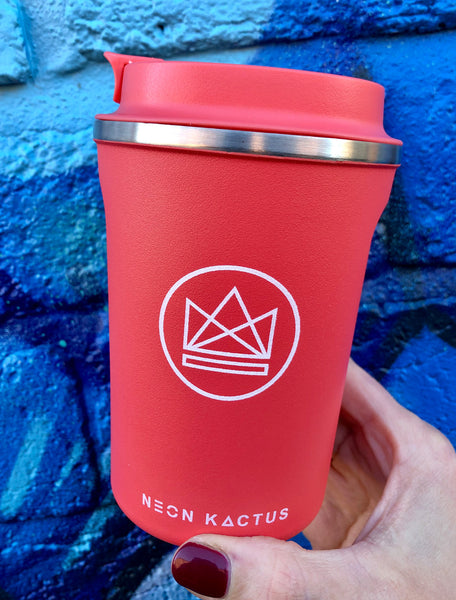 Neon Kactus Red Insulated Coffee Cup