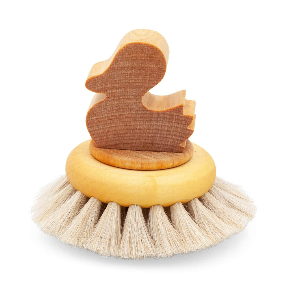 "Iris Hantverk Brushes Iris Hantverk ""Big Duck"" Bath Brush In Oil Treated Maple And Horsehair Bristles"