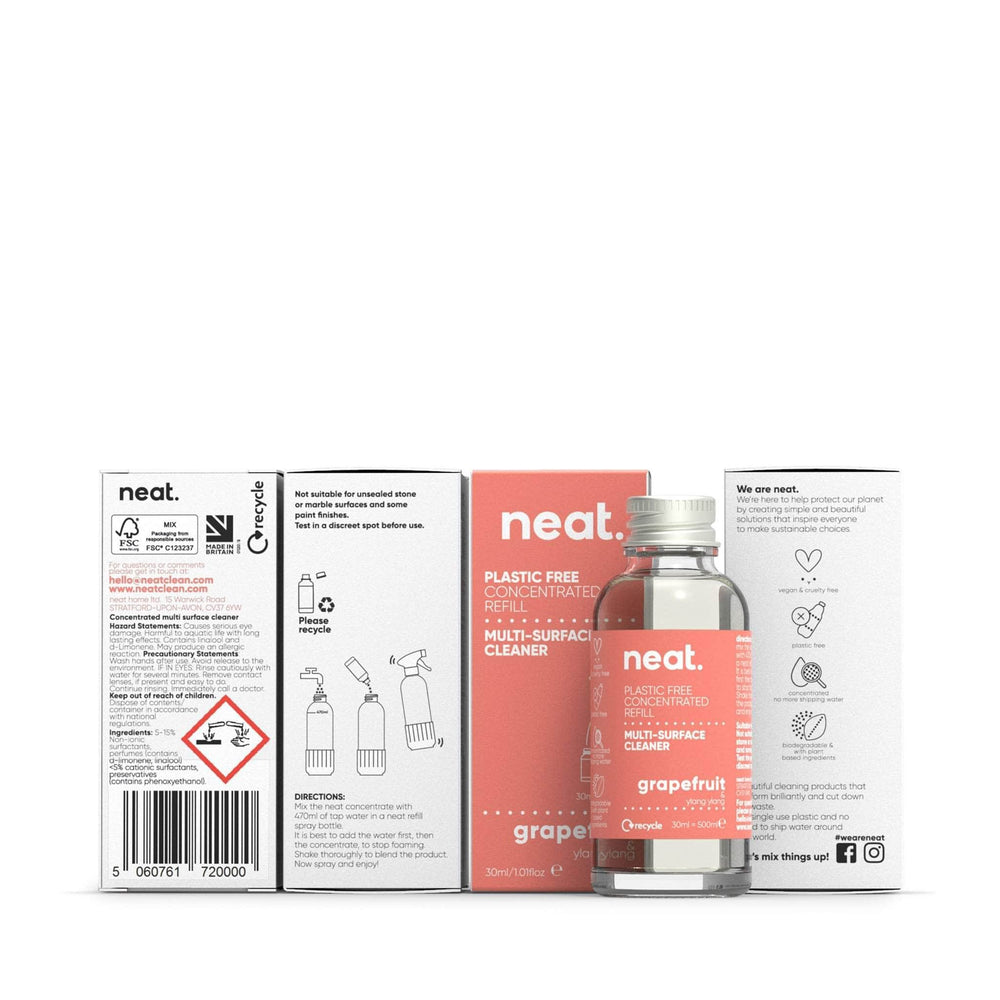 neat. Cleaning Detergents neat - Concentrated Multi-Surface Cleaner Refill - Grapefruit & Ylang Ylang