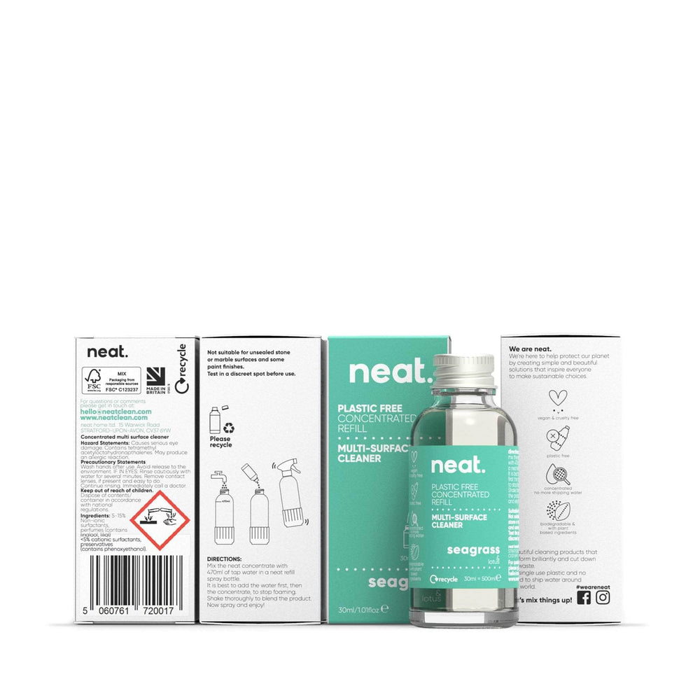 neat. Cleaning Detergents neat - Concentrated Multi-Surface Cleaner Refill - Seagrass & Lotus