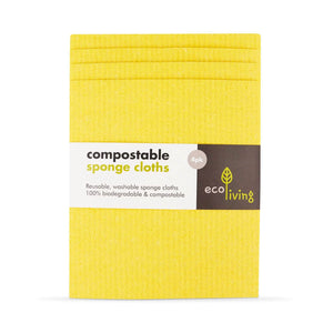 Compostable Sponge Cleaning Cloths (4 Pack)