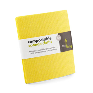 ecoLiving Cloths Compostable Sponge Cleaning Cloths (4 Pack)