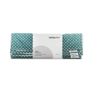 Load image into Gallery viewer, Tabitha Eve Cloths Teal Dot Tabitha Eve - Multi Purpose Cloths - Pack of 3