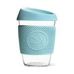 Neon Kactus - Glass Coffee Cups - 12oz - Sea Breeze - Light Blue-Green