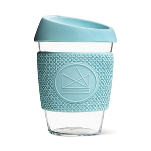 Load image into Gallery viewer, Neon Kactus Coffee Cup Neon Kactus - Glass Coffee Cups - 12oz - Sea Breeze - Light Blue-Green