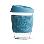 Neon Kactus - Glass Coffee Cups - 12oz - Super Sonic Pastel Blue
