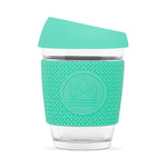 Neon Kactus - Glass Coffee Cups - 8oz - Free Spirit Turquoise