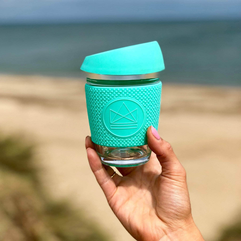 Neon Kactus Coffee Cup Neon Kactus - Glass Coffee Cups - 8oz - Free Spirit Turquoise