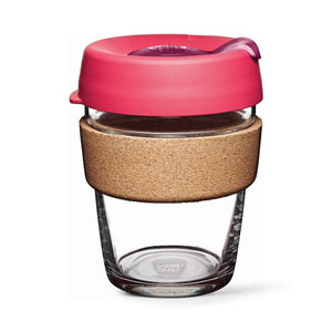 Keepcup Brew Cork Coffee Cups Keepcup Brew 12oz Glass Coffee Cup With Cork Band - Flutter