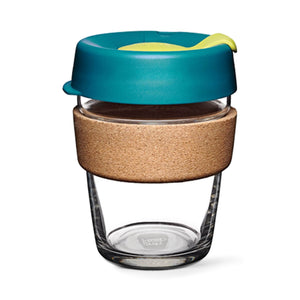 Load image into Gallery viewer, Keepcup Brew Cork Coffee Cups Keepcup Brew 12oz Glass Coffee Cup With Cork Band - Turbine
