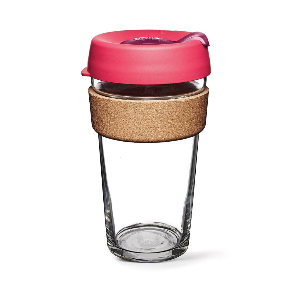 Keepcup Brew Cork Coffee Cups Keepcup Brew 16oz Glass Coffee Cup With Cork Band - Flutter